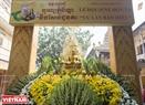 Vào những ngày này, khuôn viên chùa Candaransi được trang trí lộng lẫy.