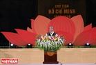 Thủ tướng Nguyễn Xuân Phúc đến dự và phát biểu tại Lễ khai mạc Festival Cồng chiêng Tây Nguyên tại Gia Lai. Ảnh: Công Đạt