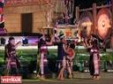 Những tín ngưỡng truyền thống của người dân tộc ở Tây Nguyên được tái hiện trong đêm khai mạc. Ảnh: Công Đạt