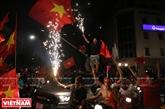 Hà Nội mừng đội tuyển Việt Nam vào chung kết AFF cup