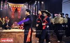 Nguyen Xuan Bach performs at a Tay wedding.