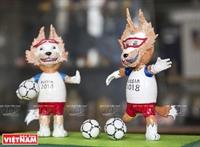 Linh vật World Cup từ vỏ trứng