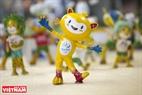 Linh vật của Olympic Rio 2016 chú mèo vàng lai khỉ Vinicius.