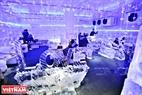 Quán cà phê băng đá mới xuất hiện trên phố Đại Cồ Việt (quận Hai Bà Trưng) đúng dịp Hà Nội vào mùa hè đã thu hút rất đông người đến khám phá.