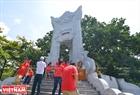 Nhà bia tưởng niệm Nghĩa trang Liệt sĩ Quốc gia Trường Sơn. Ảnh: Thanh Hoà