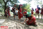 The traditional bamboo dance of Atayal people in Nantou district.