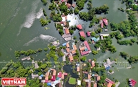 Chương Mỹ ngập sâu trong nước lũ