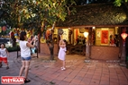 Parents bring their children to the festival to explore the traditional values of the mid-autumn festival.
