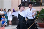 Trình diễn võ thuật của các bạn trẻ Việt Nam tập võ thuật Nhật Bản trong ngày khai mạc.