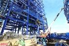 Thi công Dự án nhà máy điện lực Long Phú 1. Ảnh: Huy Hùng - TTXVN