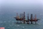 Giàn khai thác dầu khí tại mỏ Bạch Hổ. Năm 2018, khai thác dầu thô trong nước vượt 716 nghìn tấn so với kế hoạch. Ảnh: Hiền Anh - TTXVN phát