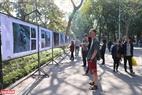 Triển lãm ảnh báo chí Thế giới trưng bày tại bờ Hồ Hoàn Kiếm thu hút đông đảo người dân và khách du lịch đến tham quan.