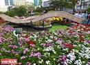 Đường hoa được thiết kế nhằm tái hiện kênh đào nổi tiếng ngày xưa trên mảnh đất TP. Hồ Chí Minh.
