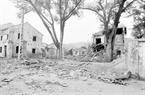 Les habitations du quartier Lo Ren, bourg Dong Dang, province de Lang Son détruites par l'ennemi. Photo : The Thuân – AVI