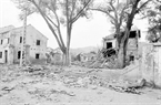 Casas en la calle de Lo Ren, minicipio de Dong Dang, provincia de Lang Son fueron devastadas . Foto: The Thuan - VNA