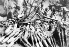 Weapons of the enemy were captured by Vietnamese troops in Hoa An district, Cao Bang province in February 1979. Photo: Quang Khanh / VNA