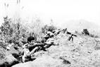 A 9h 15 du 20 février, les soldats de l'escadron No 10, du bataillon No 3 de la province de Lang Son attaquèrent et reprisent les  collines Chau Canh et Cay Xanh, situées dans la commune de Tam Lung, district de Van Lang, province de Lang Son, occupées par la Chine depuis le 17 février 1979. Photo : Ha Viet : AVI