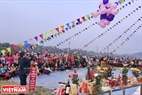 The festival is held on a field in Xuan Giao commune, Bao Thang district, Lao Cai.