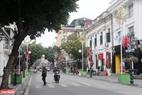Les symboles de la rencontre Etats-Unis – RDPC sont montés sur la rue Trang Tiên. Photo : Thanh Giang