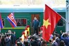 Le président nord-coréen, Kim Jong – un est arrivé à la gare de Dong Dang. Photo : Nhan Sang/AVI
