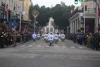 Le convoi du président Kim Jong – un dans une rue de Hanoi. Photo:VI