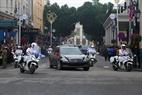 Le convoi du président Kim Jong –un  dans une rue de Hanoi. Photo:VI