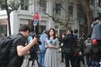 Des correspondants sud-coréens se préparent à rapporter la rencontre sur place. Photo : Trinh Bô