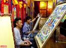 Nhứng bức vẽ Thangka được các họa sỹ khéo léo thể hiện.
