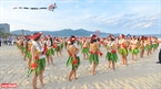 The bikini flashmob performance is the first ever at the city's annual event. Photo: Thanh Hoa