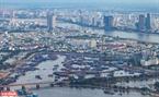 Cảng cá Thọ Quang nhìn từ bán đảo Sơn Trà.
