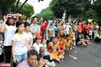 Liên hoan nghệ thuật múa Rồng Hà Nội năm 2020 thu hút rất đông sự quan tâm của nhân dân thủ đô.