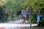Những con đường tại khu đô thị Ecopark vắng bóng người qua. Ảnh: Việt Cường