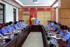 Giao ban công tác tại trụ sở VKSND tỉnh Quảng Ninh.