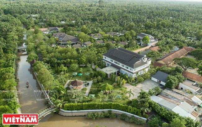 Những dòng kênh uốn lượn giữa bạt ngàn rừng dừa là đặc trưng của sông nước miền Tây.