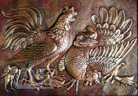 copper embossed paintings vietnam pictorial