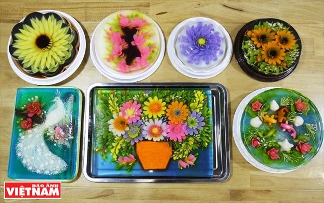 El arte de hacer pastel de gelatina en 3D