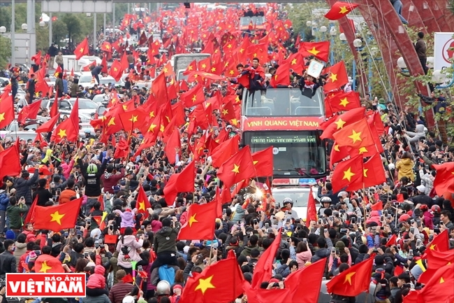Millones de corazones se reúnen en una bandera