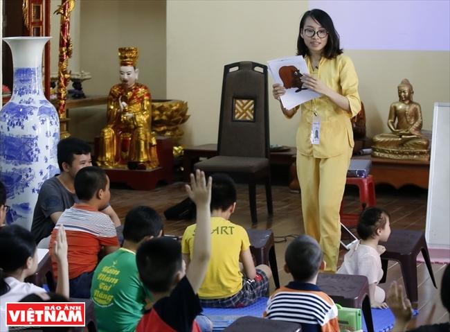 Clases de inglés en la puerta de Buda