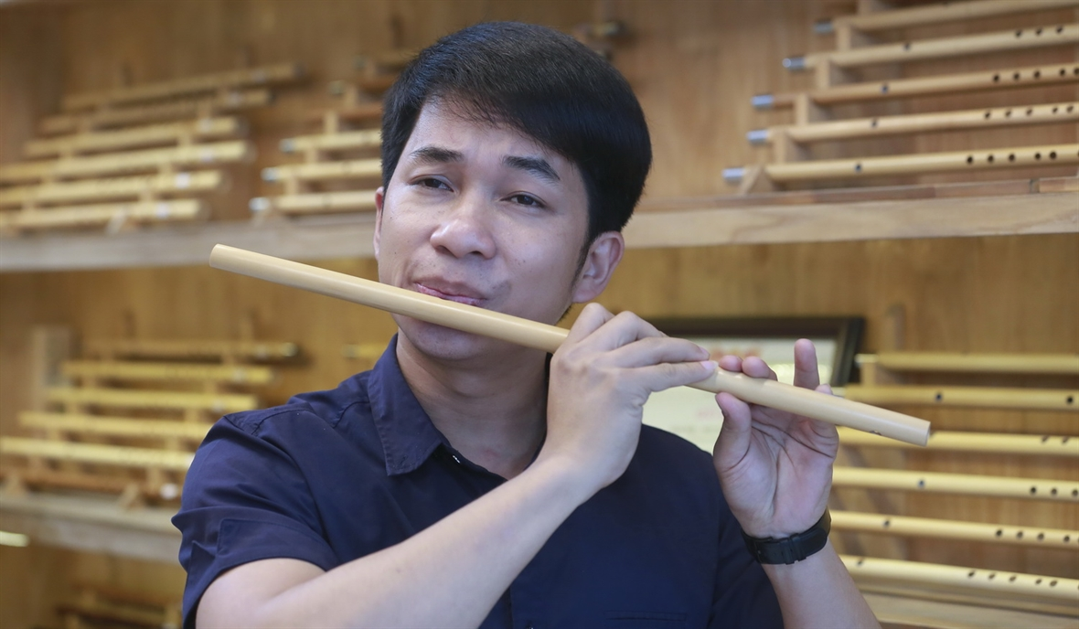 Startup from a passion for bamboo flutes