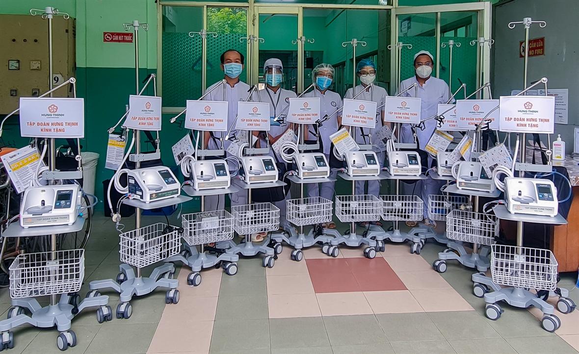 Empresas ayudan a Ciudad Ho Chi Minh a repeler la pandemia